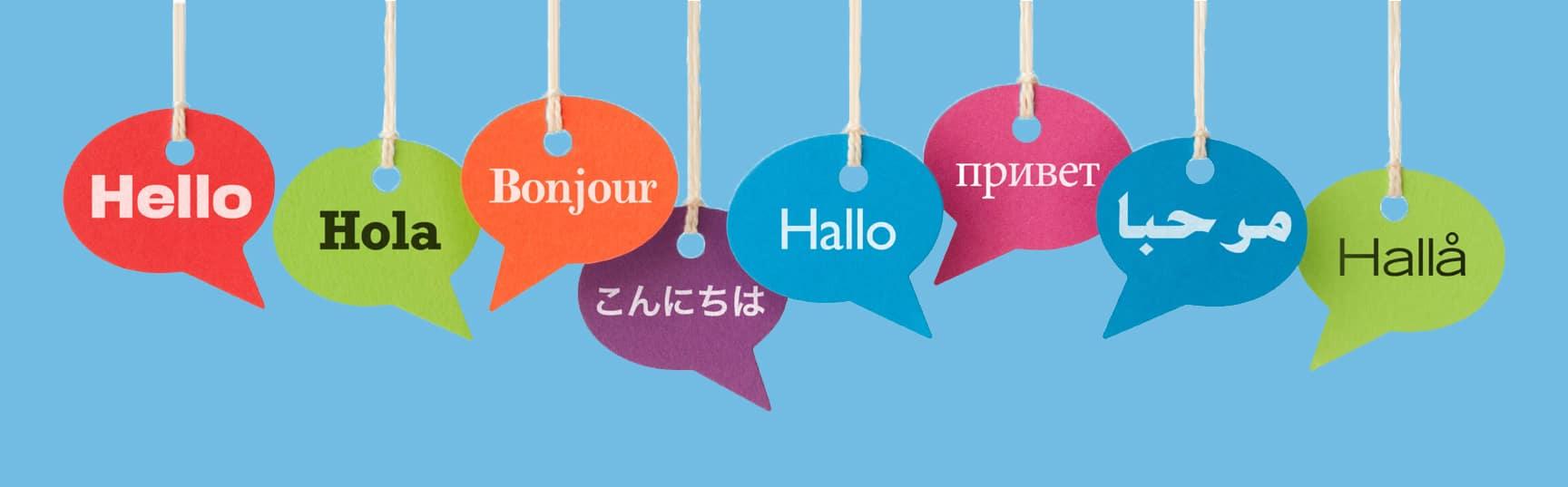 Les salutations dans plusieurs langues