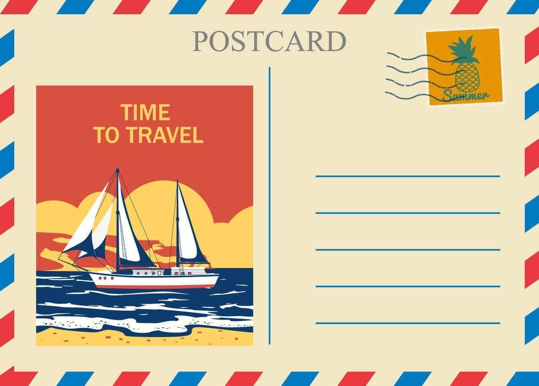 Carte postale remerciement